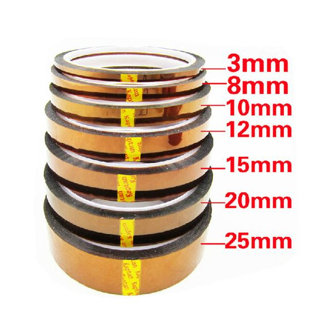 High Temp Tape, 6 Pack Kapton Polyimide High Temperature Resistant Tape Multi-Sized Value Bundle 18'', 14'', 12'', 1'' with Silicone Adhesive for Masking, Soldering etc.jpg